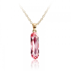 Light Rose Swarovski Elements 18K Yellow Gold Plated Necklace
