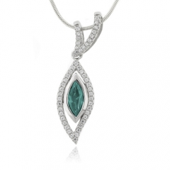 Alexandrite Gemstone Silver Pendant