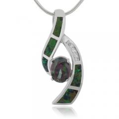 Australian Opal Pendant with Mystic Topaz