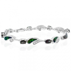 Mystic Topaz Opal Sterling Silver Bracelet