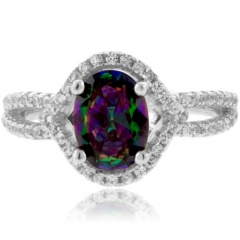 Mystic Topaz Sterling Silver Ring
