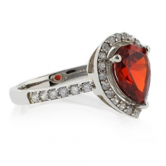 Fire Opal 925 Sterling Silver Ring