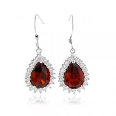 Pear Cut Fire Opal Earrings