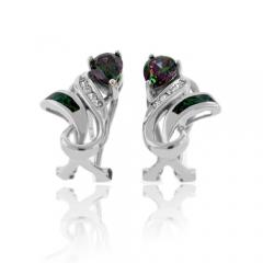 Very Elegant Australian Opal Mystic Topaz Earrings