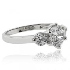 3 Round Cut Simulated Diamond Engagement Ring