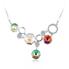 Amazing Sterling Silver Swarovski Crystal Necklace