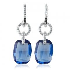 Amazing Sterling Silver Blue Swarovski Earrings
