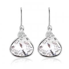 Beautiful Swarovski Crystal White Earrings