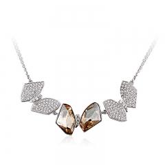 Gorgeuos Amber Color Swarovski Necklace