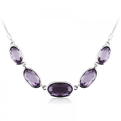Swarovski Crystal Necklace Tanzanite Color