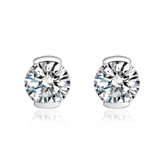 Swarovski White Crystals Stud Earrings