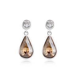 Swarovski crystal Amber Color Earrings