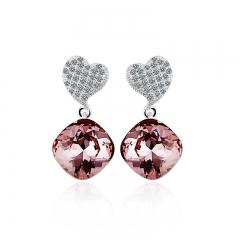 Swarovski crystals Earrings Light Amethyst Color