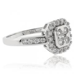 Gorgeous Simulated Diamond Engagement Ring