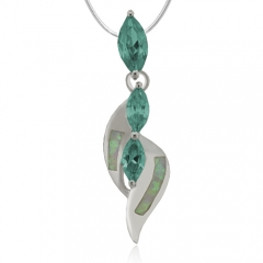 Opal and Alexandrite Sterling Silver Pendant
