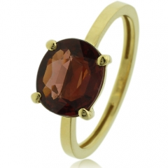Natural Garnet 14k Yellow Gold Ring