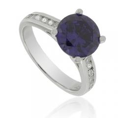 Solitaire Tanzanite .925 Silver Ring