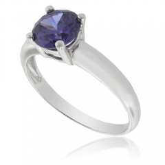 Sterling Silver Solitaire Tanzanite Ring