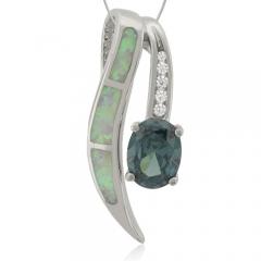 Australian Opal Pendant with Alexandrite