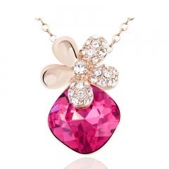 Amazing Pink Swarovski Necklace