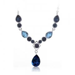 Elegant Blue Swarovski Necklace