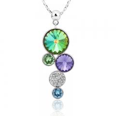 Swarovski Green Circles Necklace