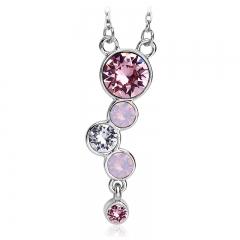 Beautiful Swarovski Necklace Pink Color
