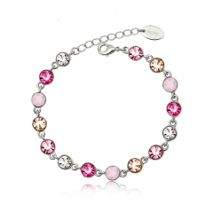 Pretty Bracelet With Pink Crystals
