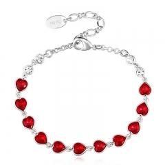 Swarovski Red Heart Bracelet
