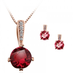 Beautiful Swarovski Color Fuchsia Crystal Set