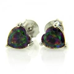 Mystic Topaz Silver Earrings