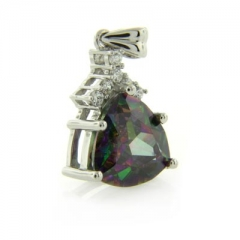 Quality Mystic Topaz Silver Pendant