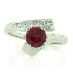 Sterling Silver 1 carat Ruby Ring