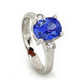 Stunning Blue Tanzanite Ring