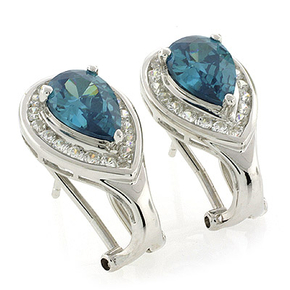 Alexandrite Silver Earrings