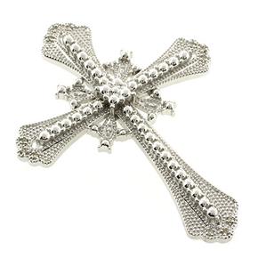 Genuine Diamond Silver Cross Pendant