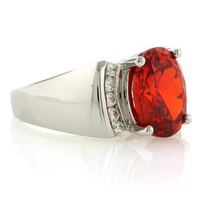 Big Fire Cherry Opal Ring