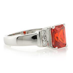 Sterling Silver Fire Cherry Opal Elegant Ring