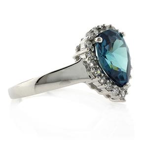 Alexandrite and Simulated Diamond Ring