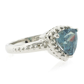 Trillion Cut Gorgeous Alexandrite Sterling Silver Ring