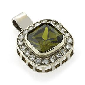 Celebrity Inspired Tourmaline Silver Pendant