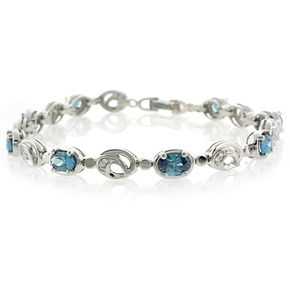 Elegant Oval Cut Alexandrite Gemstones Bracelet