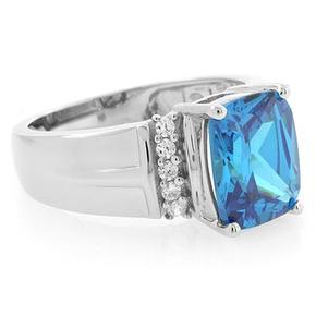 Unisex Blue Topaz Ring