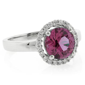 Alexandrite Round Cut Ring Changing Color Stone