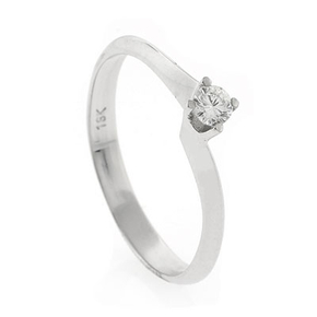 0.13 ct tw Diamond Solitaire Ring Setting in 18K White Gold