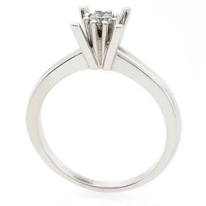 0.19 ct tw Diamond Engagement Ring Setting in 18K White Gold