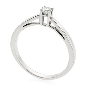 0.12 ct tw Diamond Engagement Ring Setting in 18K White Gold