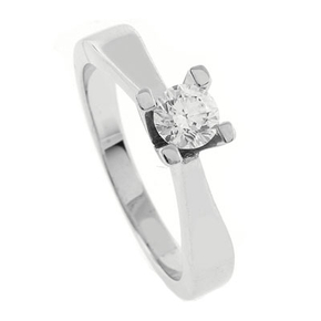 0.38 ct tw Diamond Engagement Ring Setting in 18K White Gold