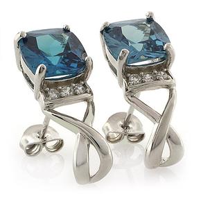 Cushion Cut Alexandrite Silver Earrings