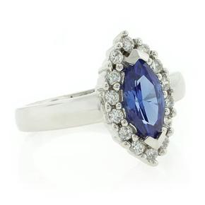 Silver Marquise Cut Tanzanite Ring